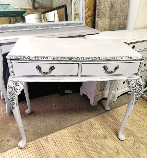 upcycled furniture queen anne leg