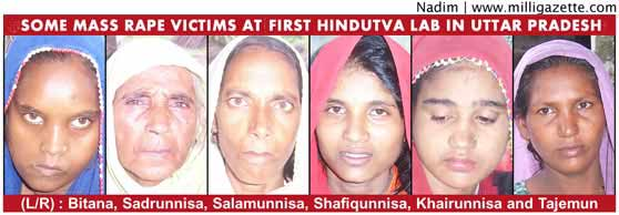 some mass rape victims at is first Hindutva lab in Uttar pradesh