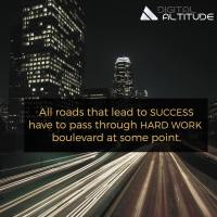 All roads that lead to SUCCESS have to pass through HARD WORK boulevard at some point.
