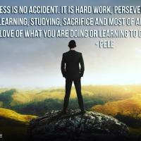 Success is no accident. It is hard work, perseverance, learning, studying, sacrifice and most of all, love of what you are doing or learning to do. - Pelé