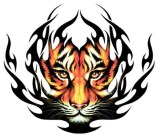 temporary tattoo tribal tiger black