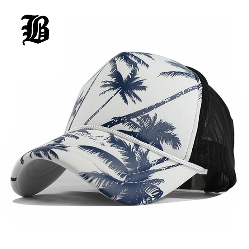 Quick Dry Mesh Back Trucker Hat for Unisex Boys and Girls 100/% Polyester Coconut Trees Mesh Cap