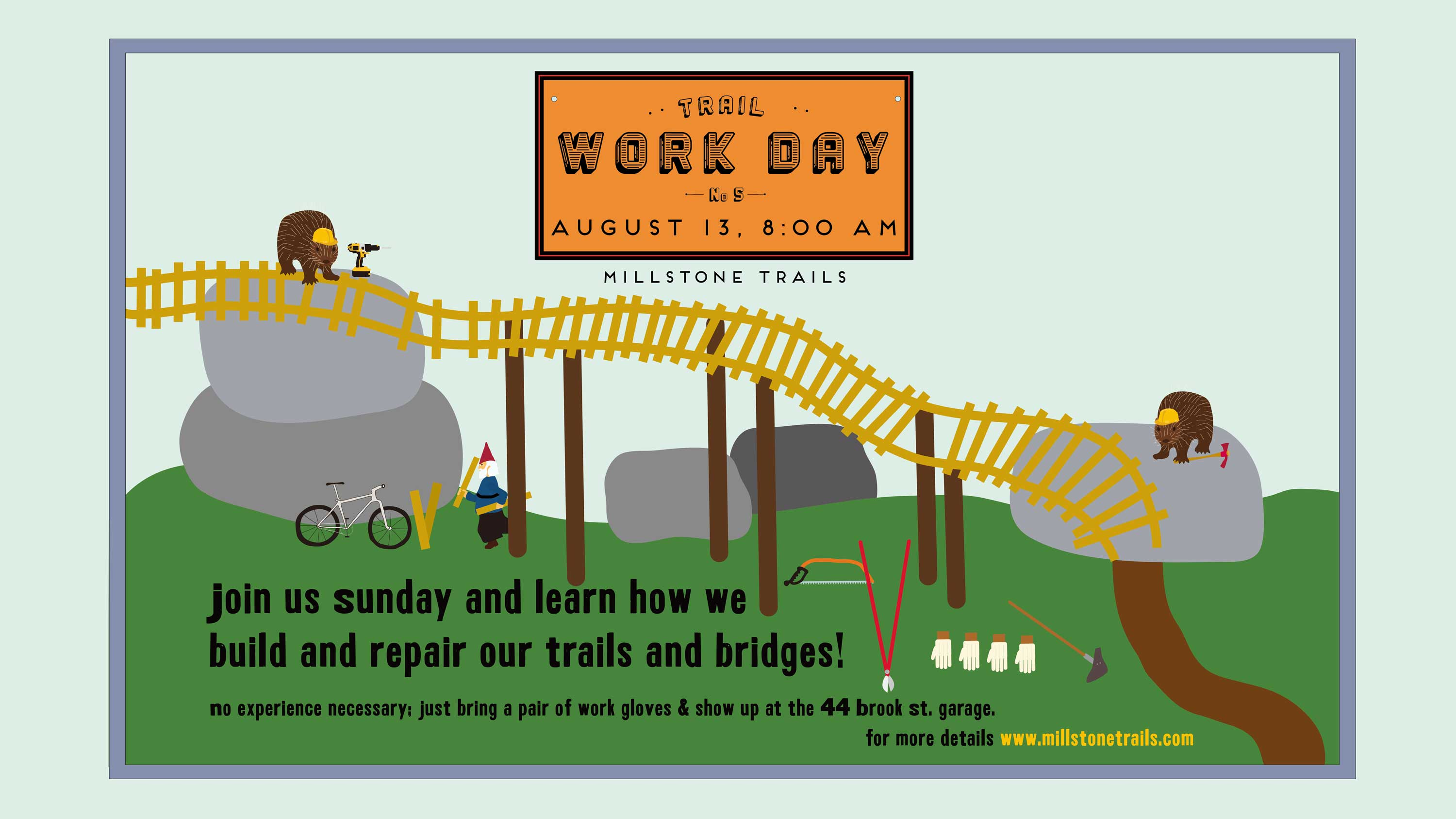 Trail Day: August 13 – Volunteers Needed!