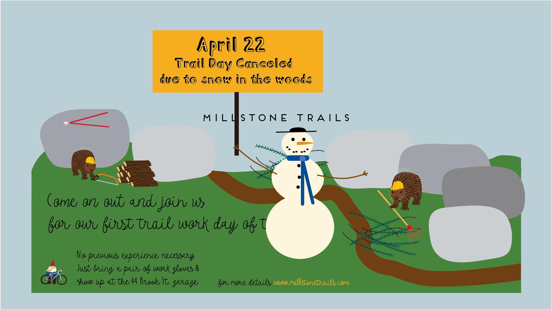 Trail Work Day Canceled