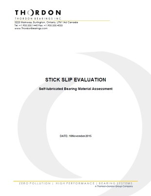 Research_H - WGB - RD Energie - Stick Slip Comparison of Self-Lubricating Materials
