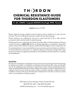 Tech Note - Chemical Resistance Guide - Thordon Elastomers