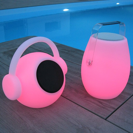Lampe Nomade LED Enceinte Bluetooth Rechargeable Playlist