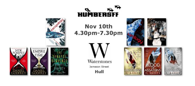 HUmber Science Fiction and Fantasy November 10th Banner