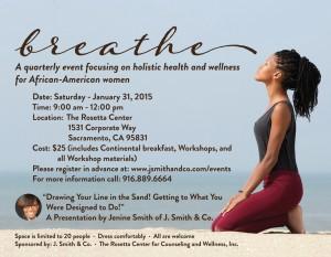 Breathe event flyer photo