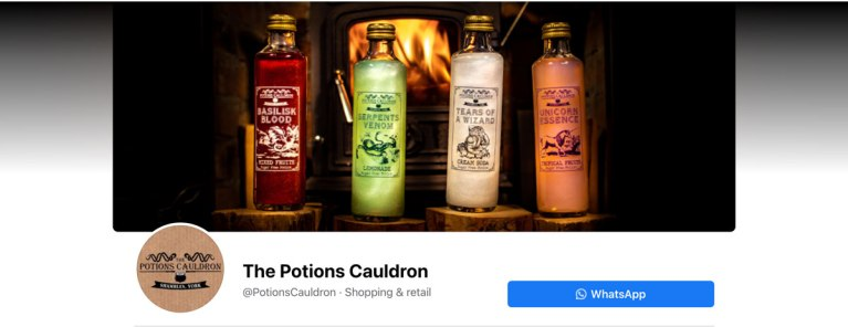 The Potions Cauldron Facebook banner milnerCreative