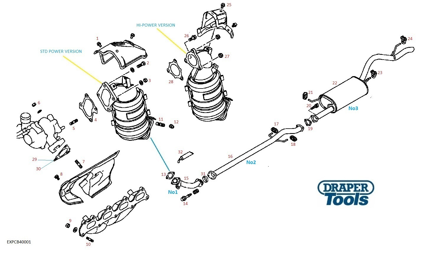 Exhaust Pipes & Components for MITSUBISHI L200 2.5L Diesel