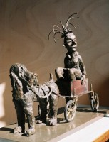 CARROSSE ROYAL / bronze / (56 x 70 x 30 cm)