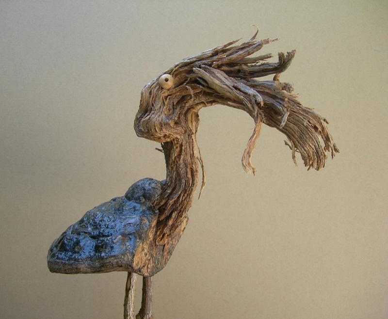 De la famille des drôles d'oiseaux. Sculpture d'Art singulier