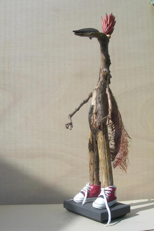 """Sculpture de la série """"de la mode et des apparences"""". Cette série a été exposée au Musée d"""