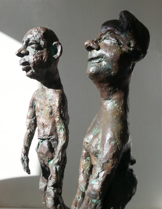 The gangly couple, bronze 3/8, (49 x 31 x 20 cm)