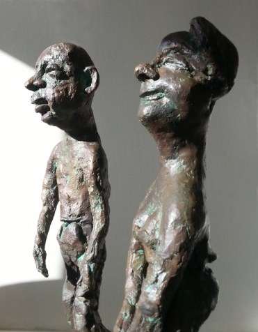 LE COUPLE DEGINGANDE / bronze 3/8 / (49 x 31 x 20 cm)