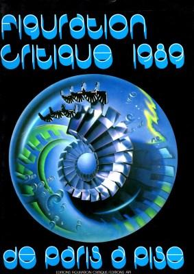 Page de couverture du catalogue de Figuration Critique de l'année 1989.