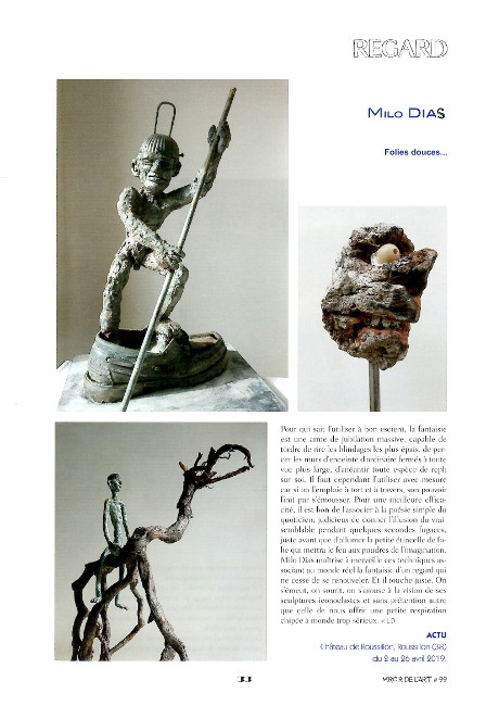article by Ludovic Duhamel on Milo Dias, the Mirror of Art N ° 99