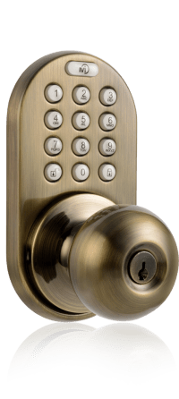 MiLocks DKK-02 Keyless Entry Knob Door Lock with ...