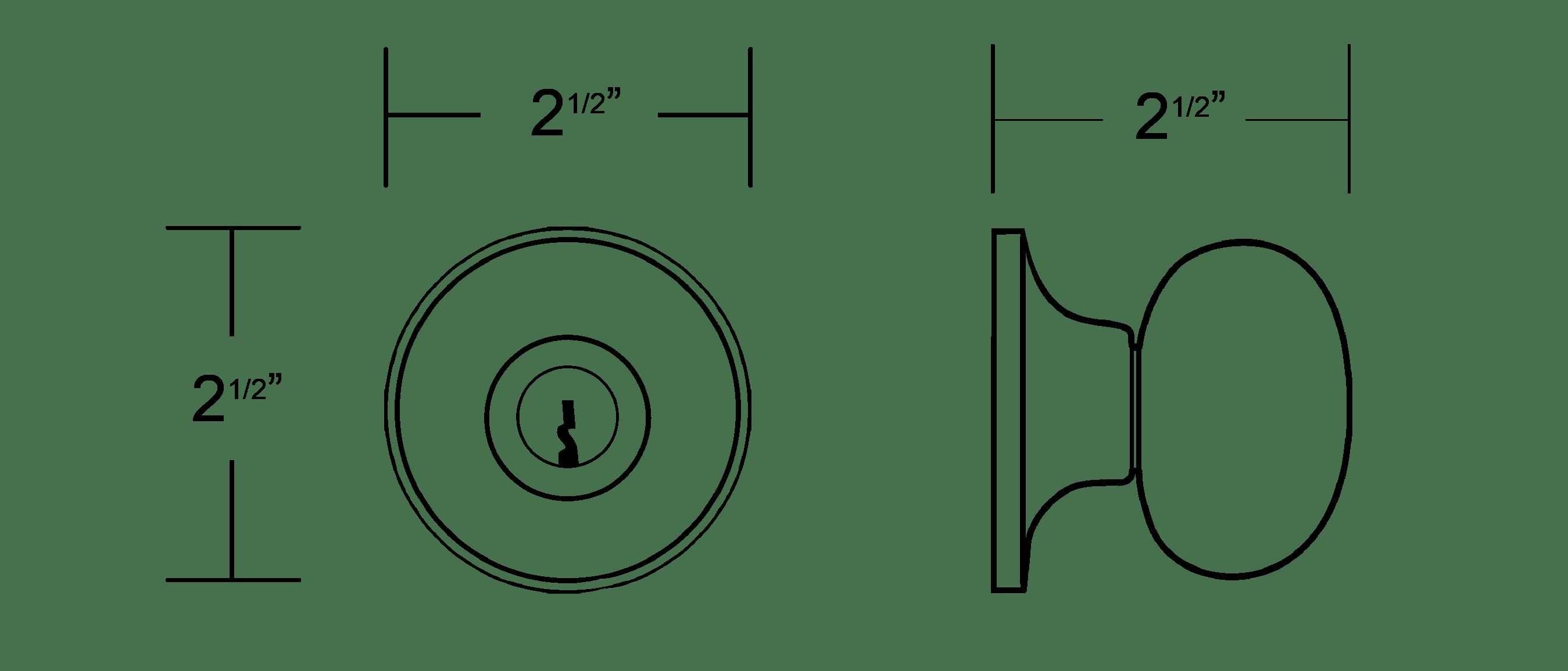MiLocks WKK-02 Keyless Entry Knob Door Lock with RF Remote