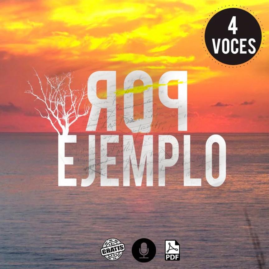 Partitura coral de Fernando Cabrera Por ejemplo partitura a 4 voces en pdf gratis por Milo Lagomarsino