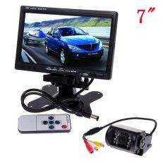 7-Color-TFT-LCD-Rear-view-Monitor-DVD-VCR-waterproof-Car-Backup-Camera-Car-Rear-View