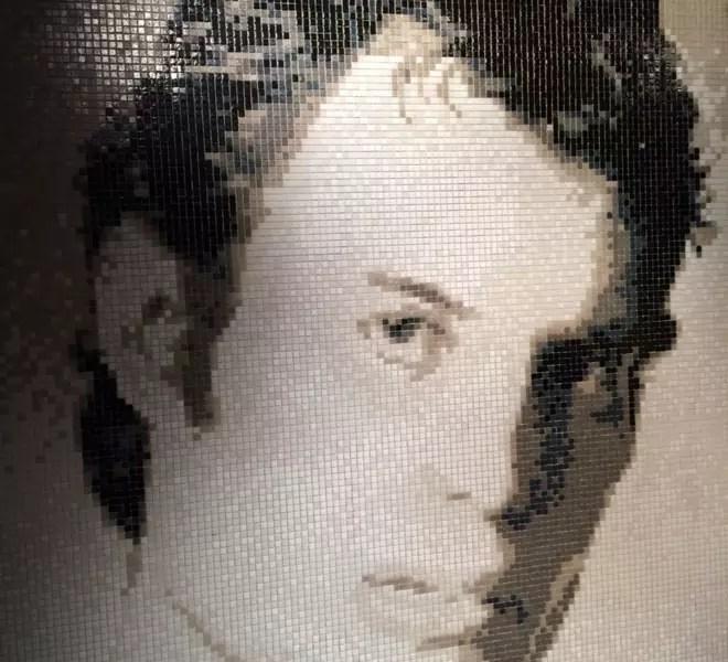 Freddie Mercurie glass mosaic portrait