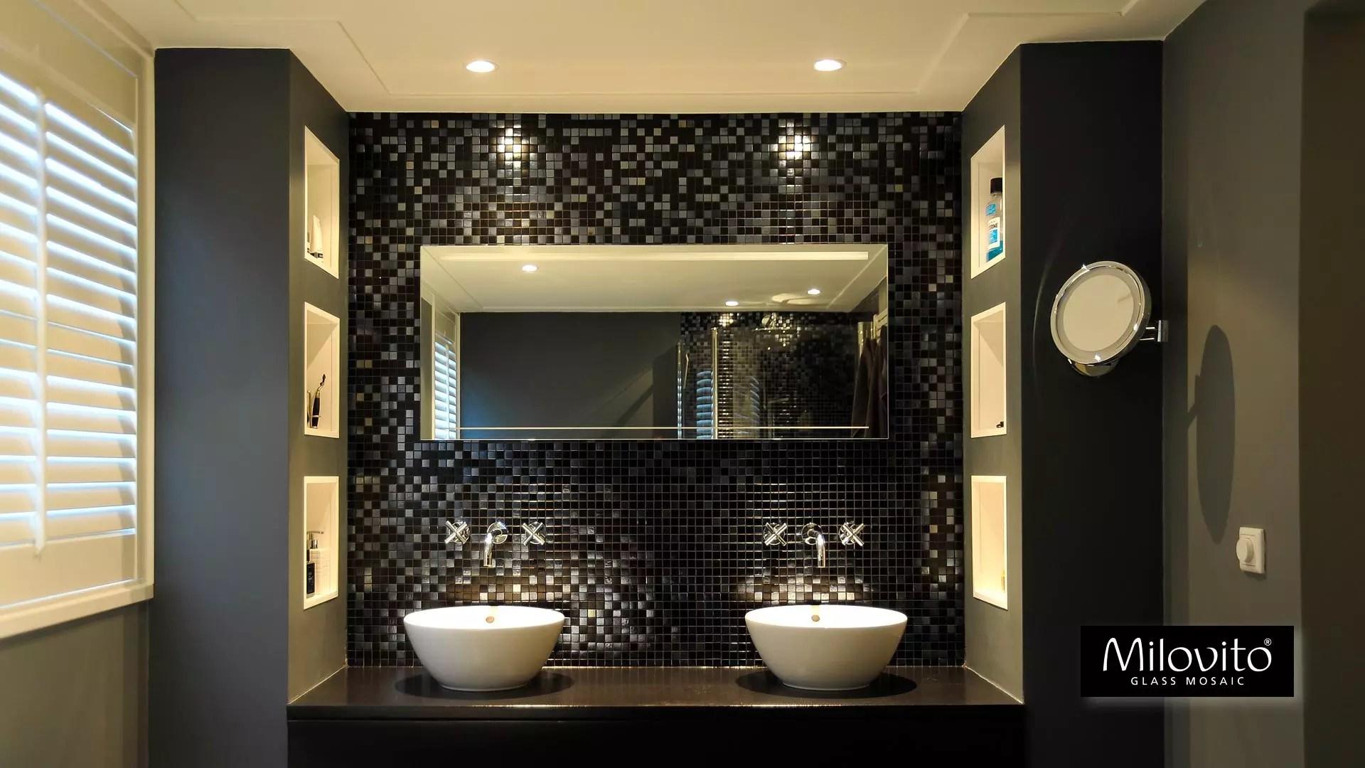 Mozaïek badkamer - exclusief glasmozaïek voor natte ruimtes - Milovito