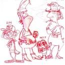 "Development Art for proposed Primetime series called ""The Gilliups"""