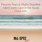 I don't want a gun in the house