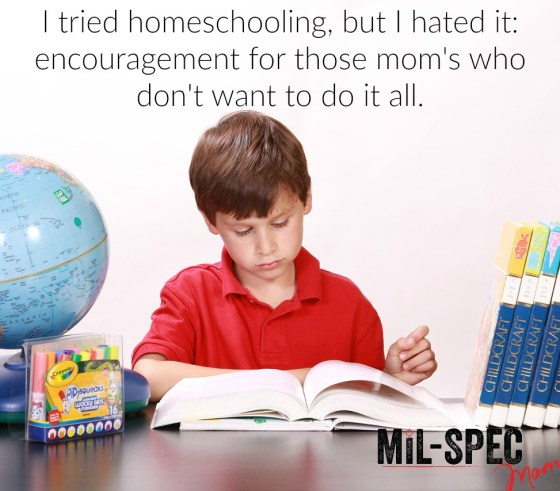 I tried homeschooling, but I hated it.