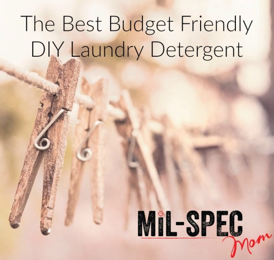 best DIY laundry detergent