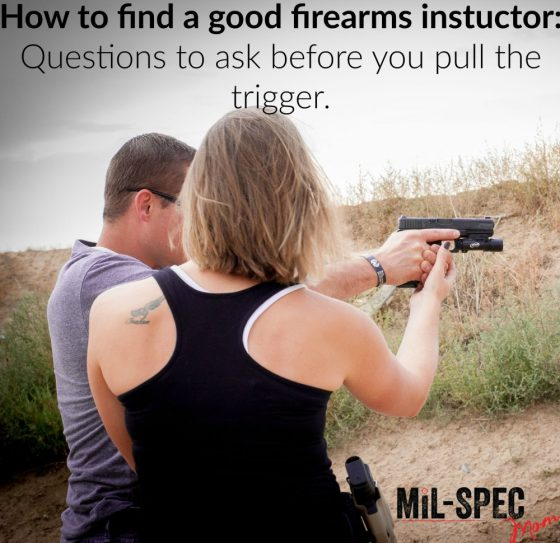 how to find a good firearms instructor