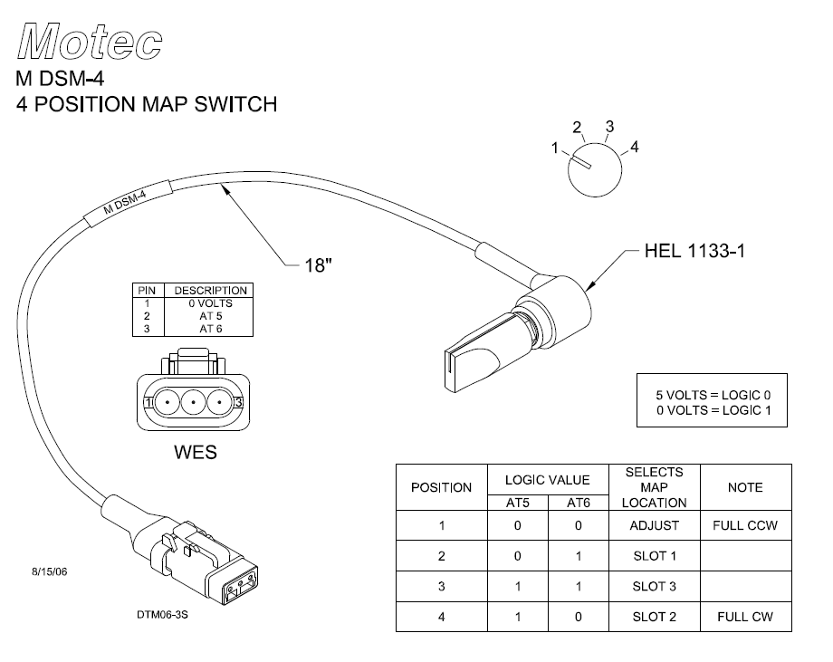 4 POSITION MAP SWITCH