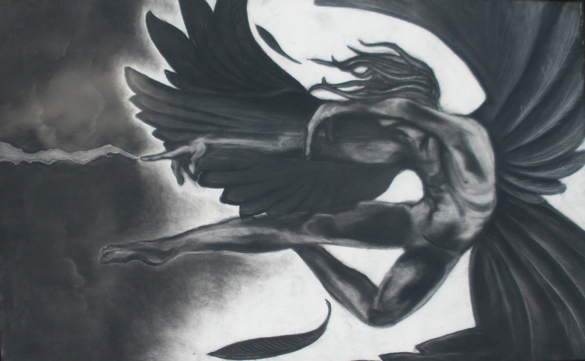 The fall of Lucifer was his own choice. No one tempted him to sin. What Satan really wants is to take over God's throne and become the new God. Image Credits: www.coroflot.com