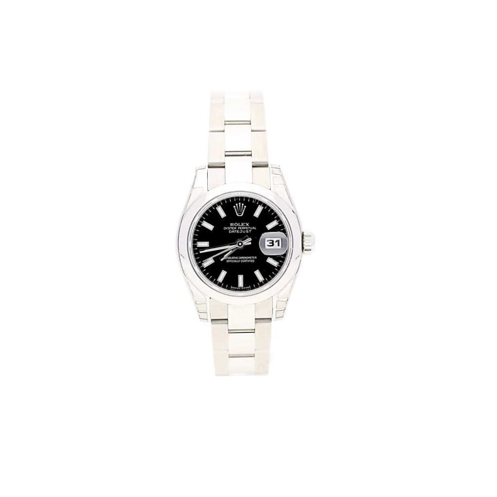 Lady's Rolex Datejust 179160 with Black Dial Jewellers