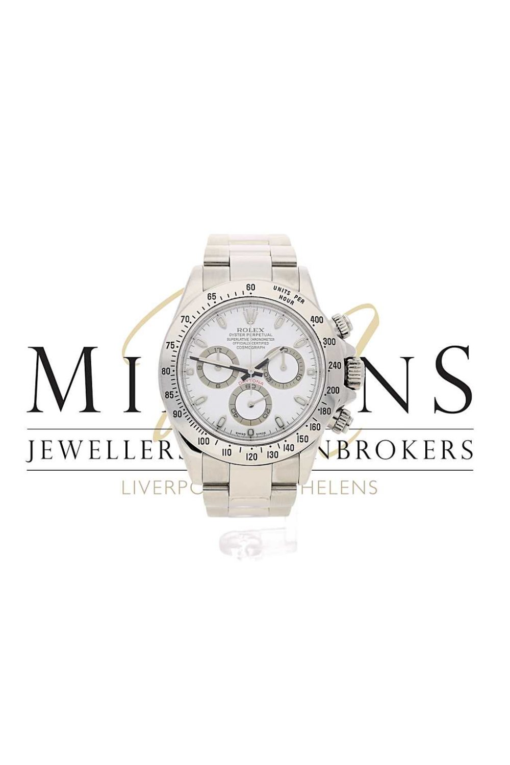 Pre-Owned Rolex Daytona Cosmograph 116520 ~ White Dial