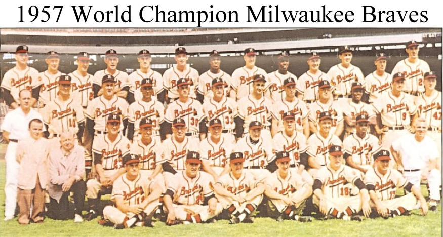 Image result for milwaukee braves 1957