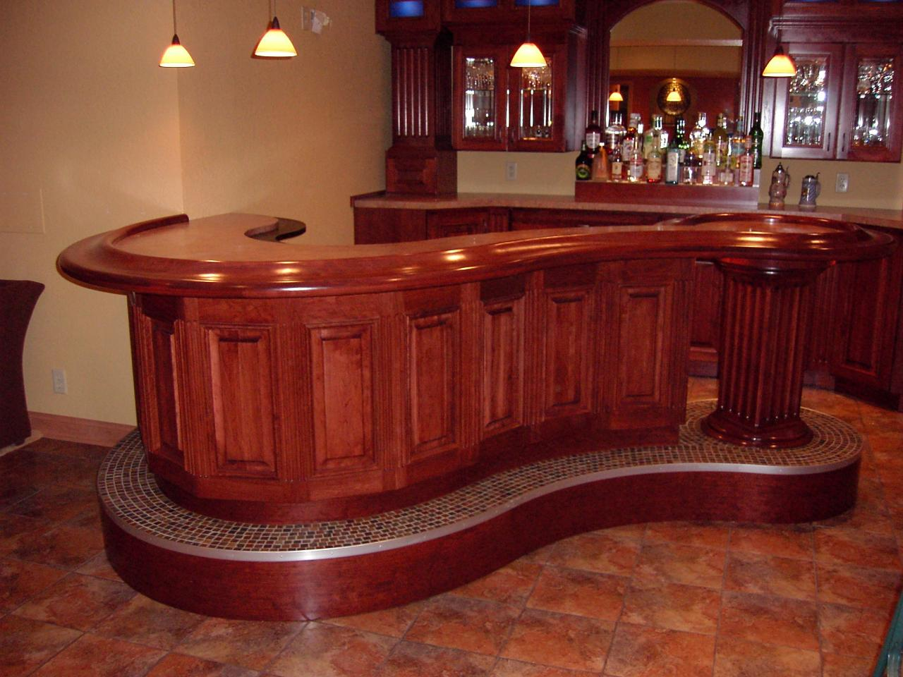 Custom Home Bar Pictures
