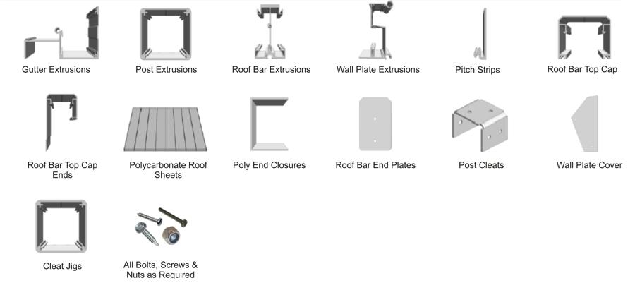 Carports, Canopies and Verandas Kits