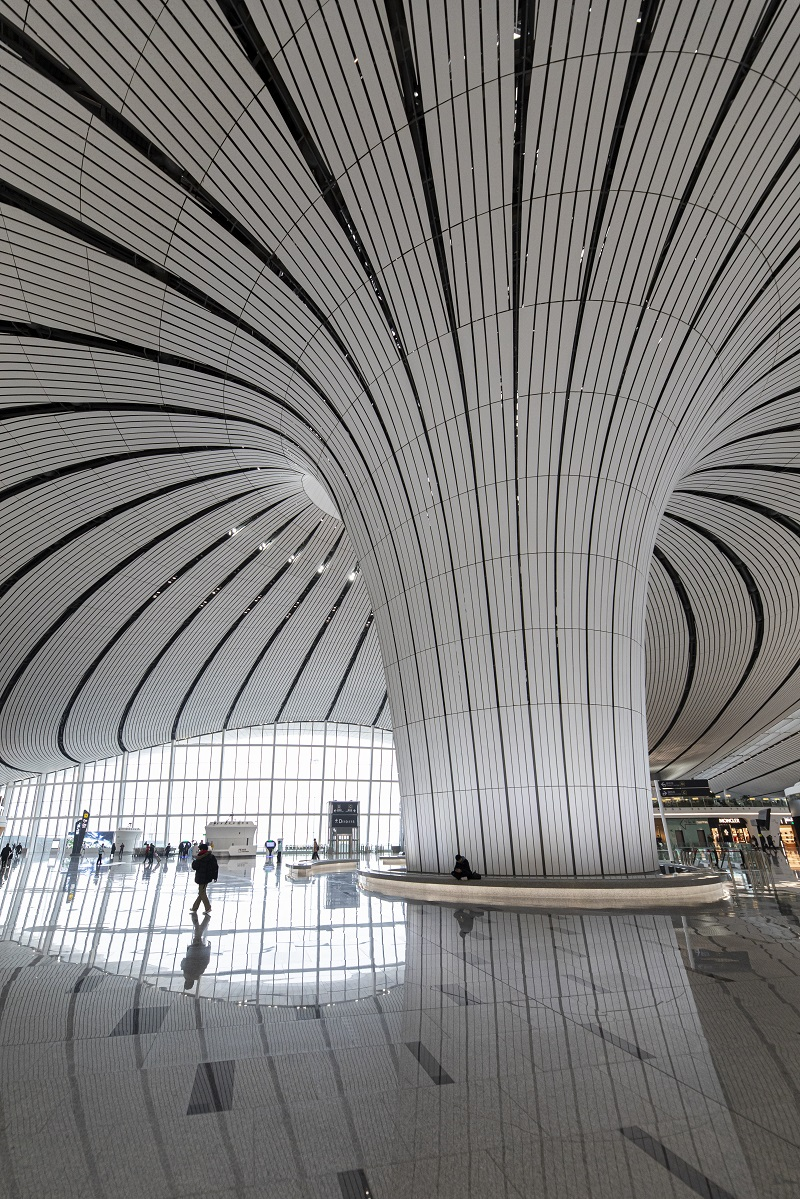 Interior of the Daxing International Airport