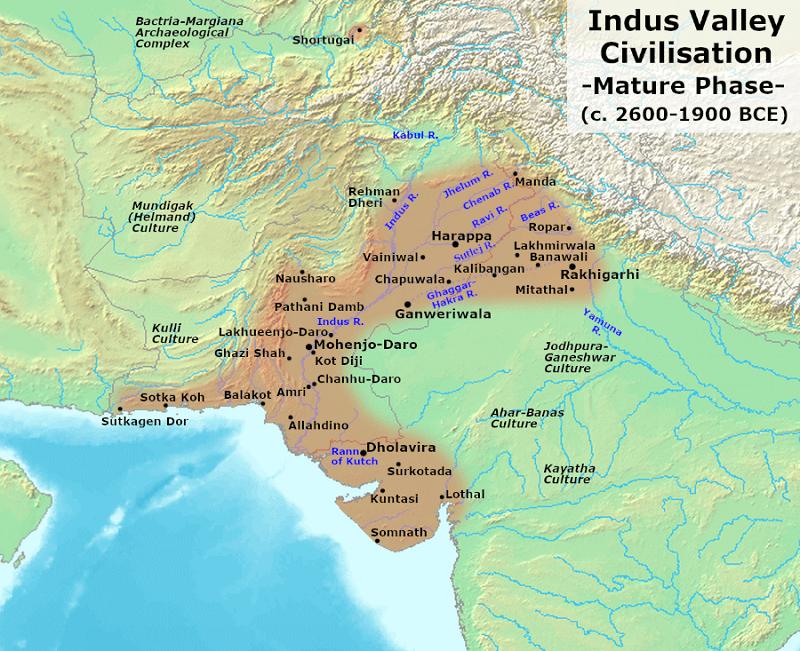 Map showing Dholavira