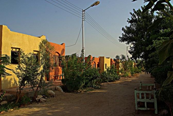 Street scene - New Gourna Village near Luxor in Egypt