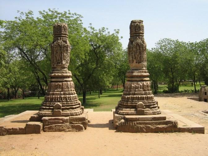 Entrance pillars at the Sun Temple at Modhera, India