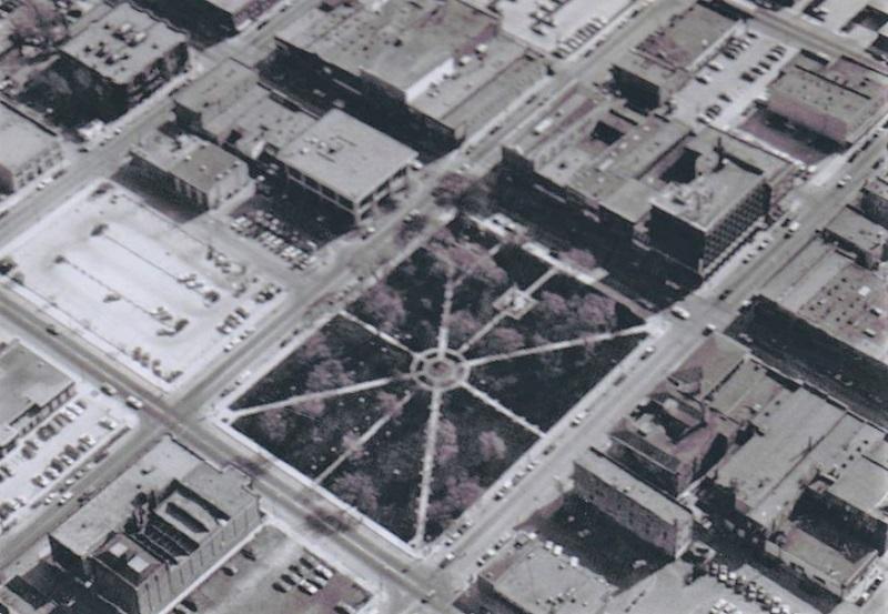 Town square, Mason City, Iowa