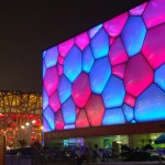 The Water Cube with the Bird's Nest in the background