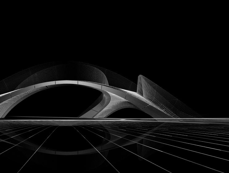 A 3D printed concrete bridge