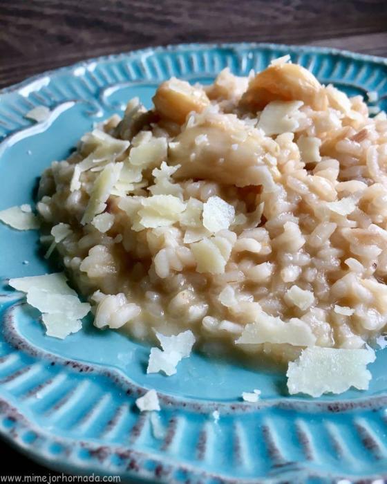 Risotto de ajos asados y parmesanowww.mimejorhornada.com