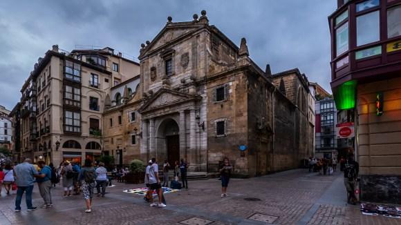 Iglesia De los Santos Juanes en el Casco Histórico de Bilbao