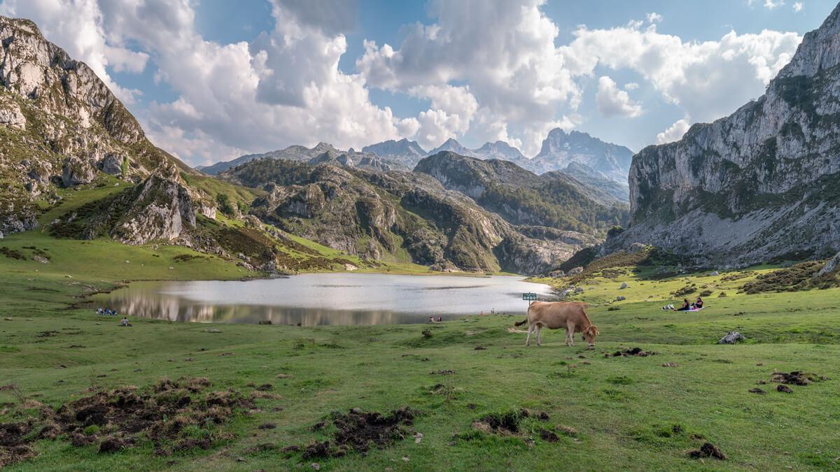 Lago de Covadonga en Picos de Europa